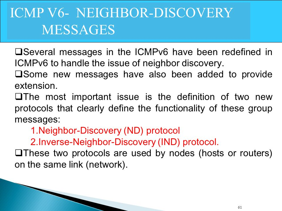ICMP V6- NEIGHBOR-DISCOVERY MESSAGES
