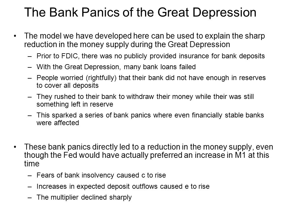 The Bank Panics of the Great Depression