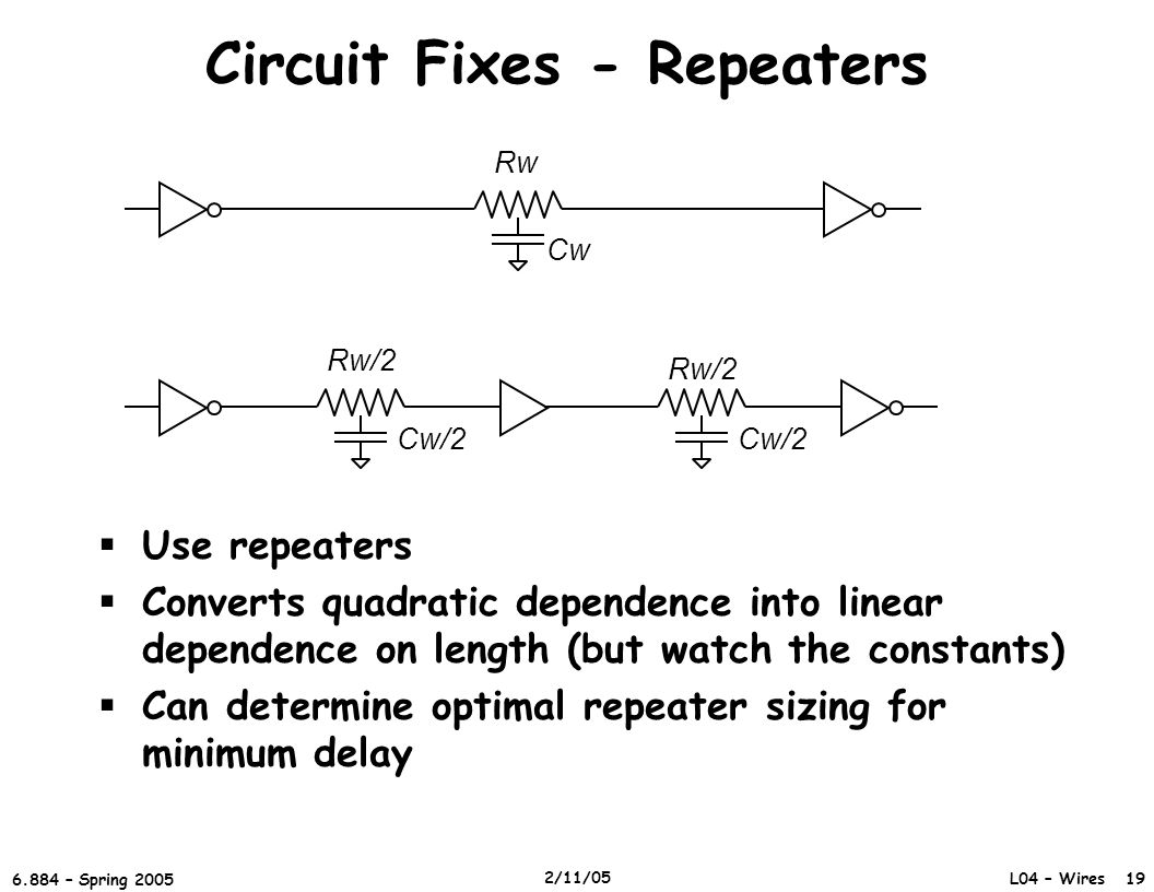 Circuit Fixes - Repeaters