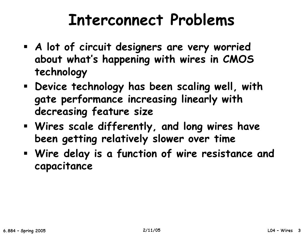 Interconnect Problems