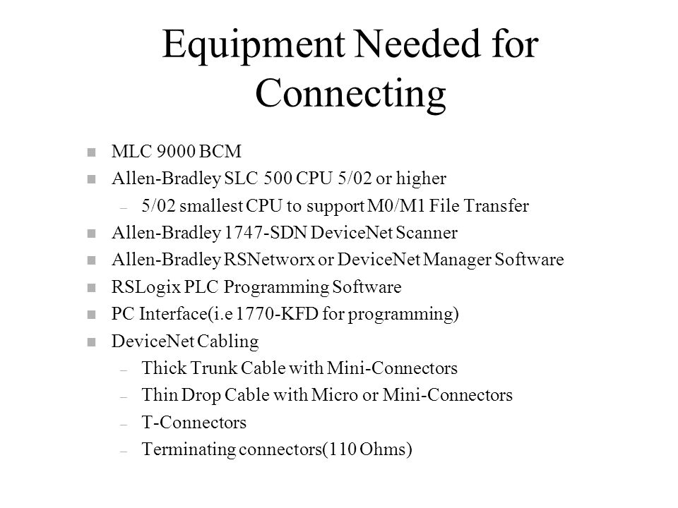 Mlc Connectivity To Slc 500 Via Devicenet Ppt Video