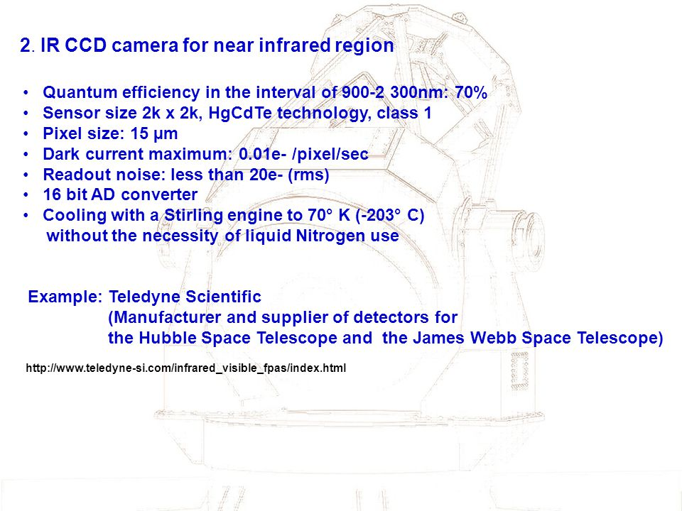 2. IR CCD camera for near infrared region