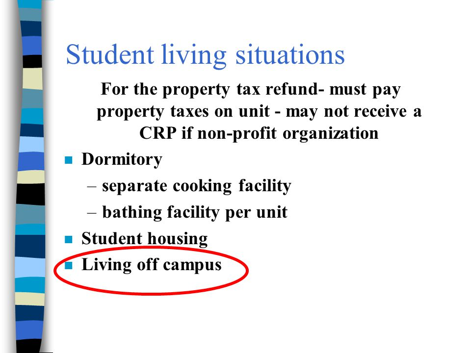 Student living situations