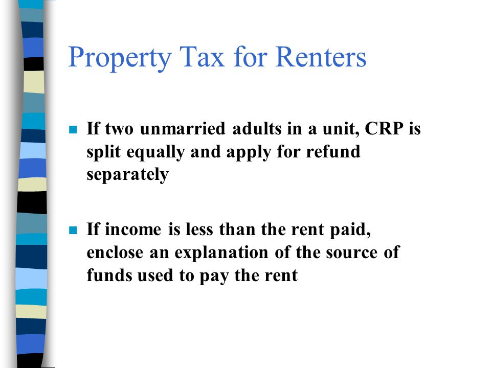Property Tax for Renters