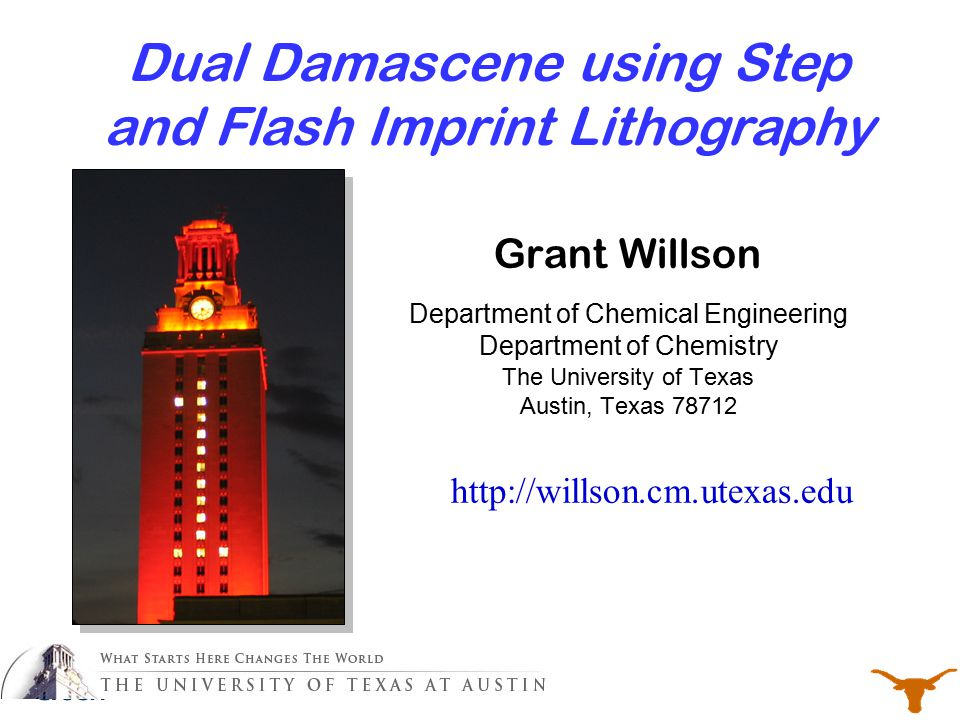 Dual Damascene using Step and Flash Imprint Lithography