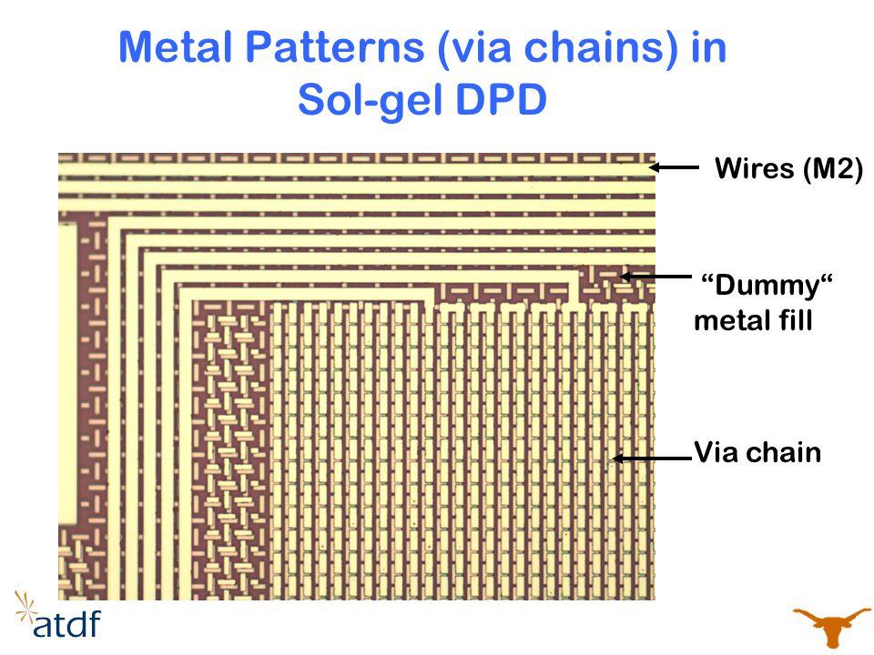 Metal Patterns (via chains) in Sol-gel DPD