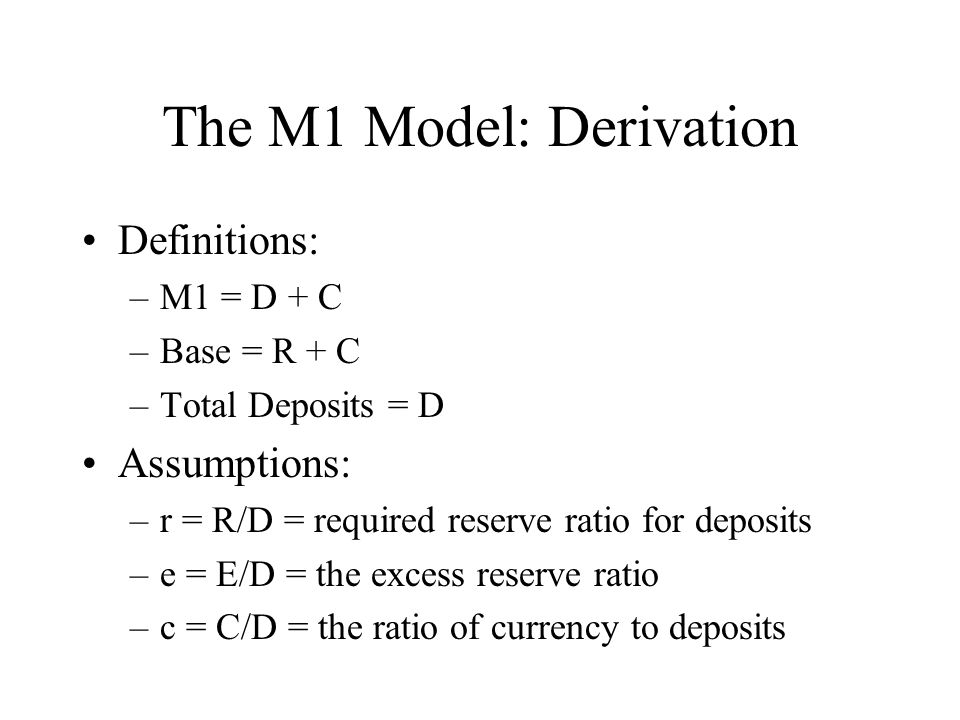 The M1 Model: Derivation
