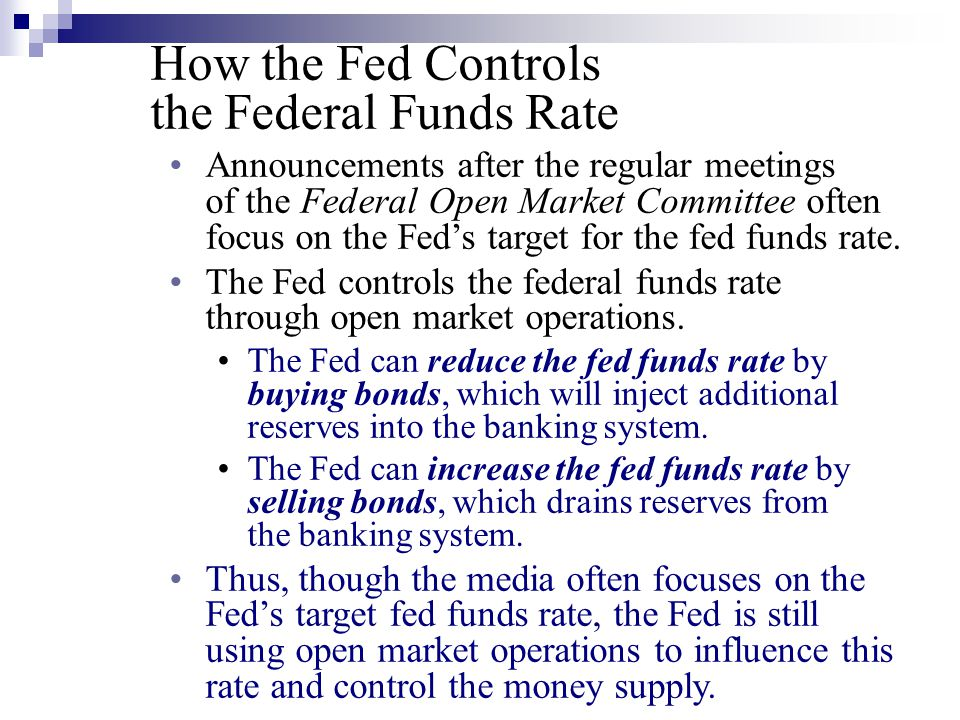 How the Fed Controls the Federal Funds Rate