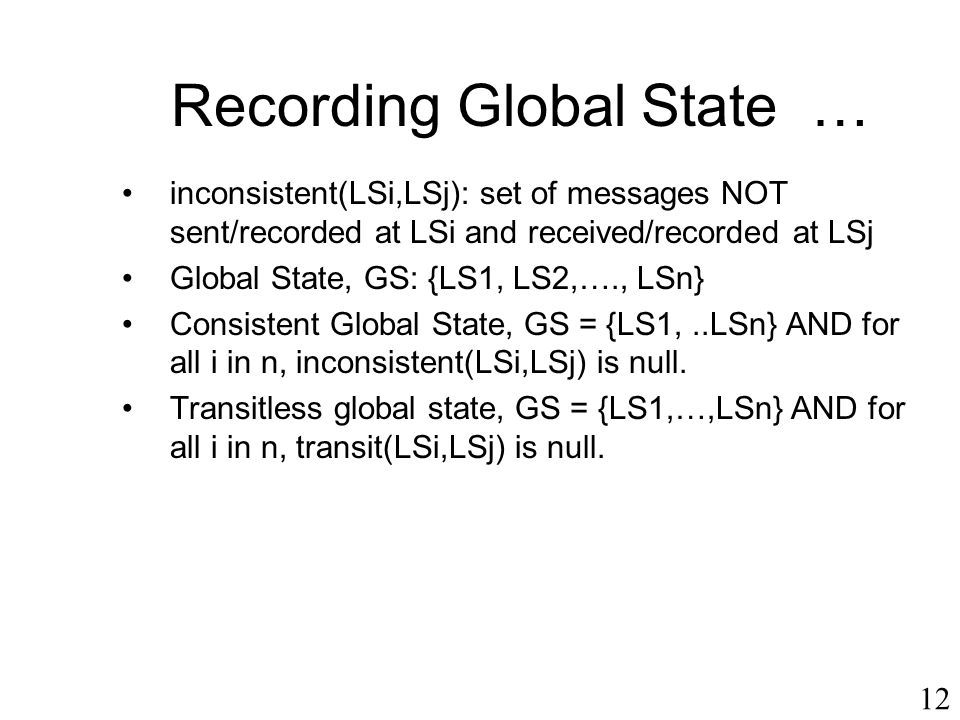 Recording Global State …