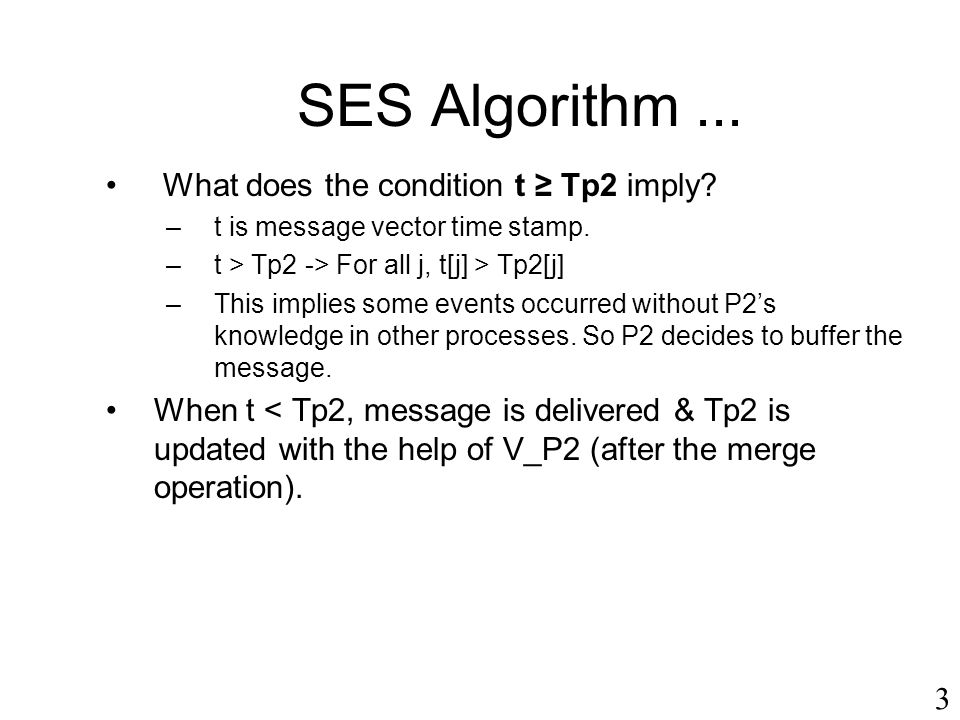 SES Algorithm ... What does the condition t ≥ Tp2 imply