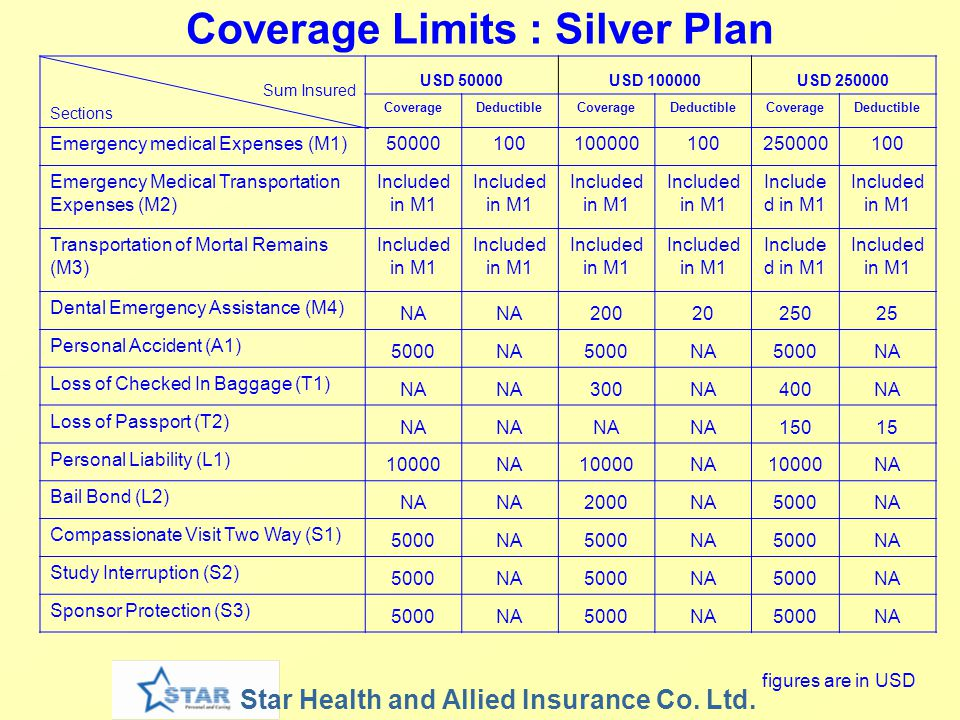 Coverage Limits : Silver Plan