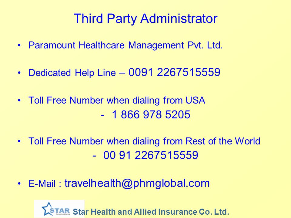 Third Party Administrator