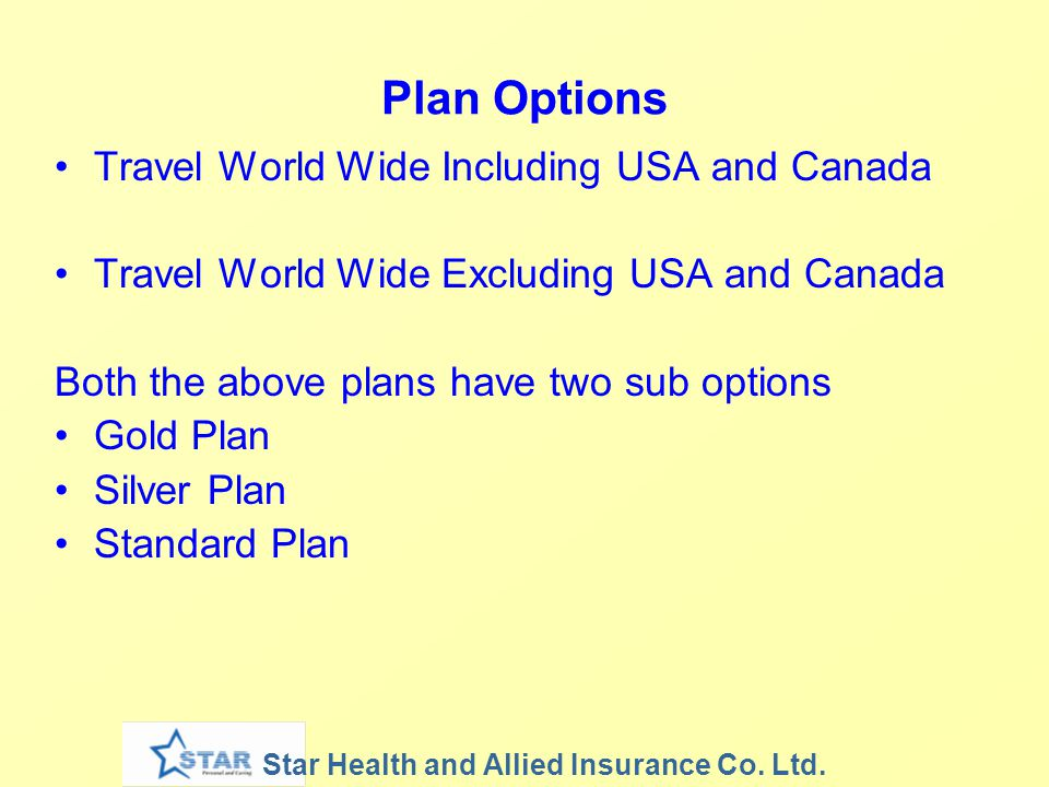 Plan Options Travel World Wide Including USA and Canada
