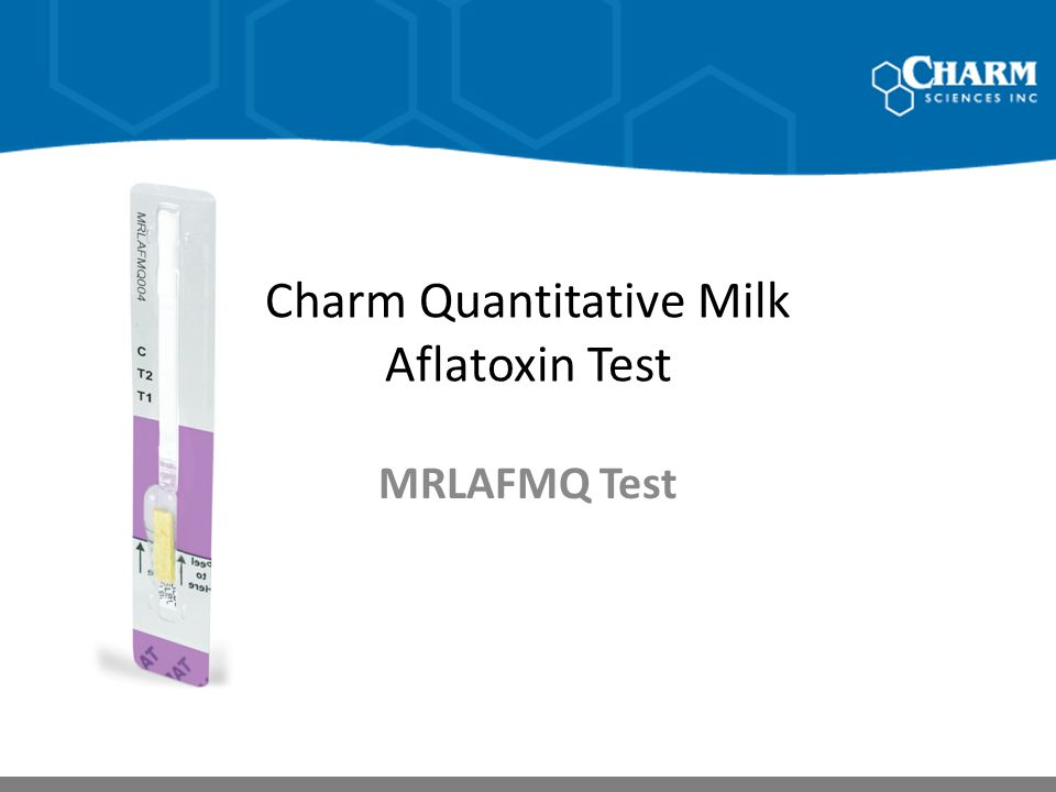 Charm Quantitative Milk Aflatoxin Test
