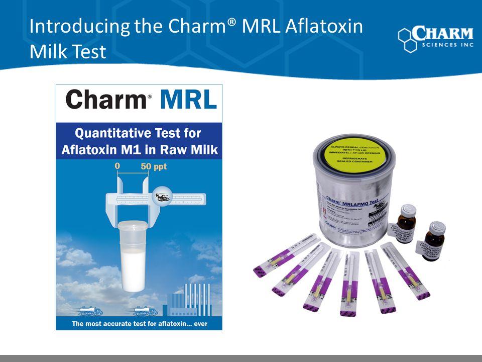 Introducing the Charm® MRL Aflatoxin Milk Test
