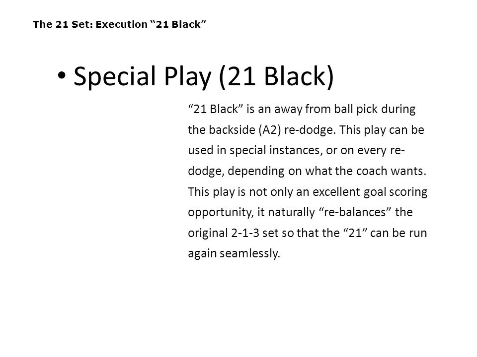 The 21 Set: Execution 21 Black