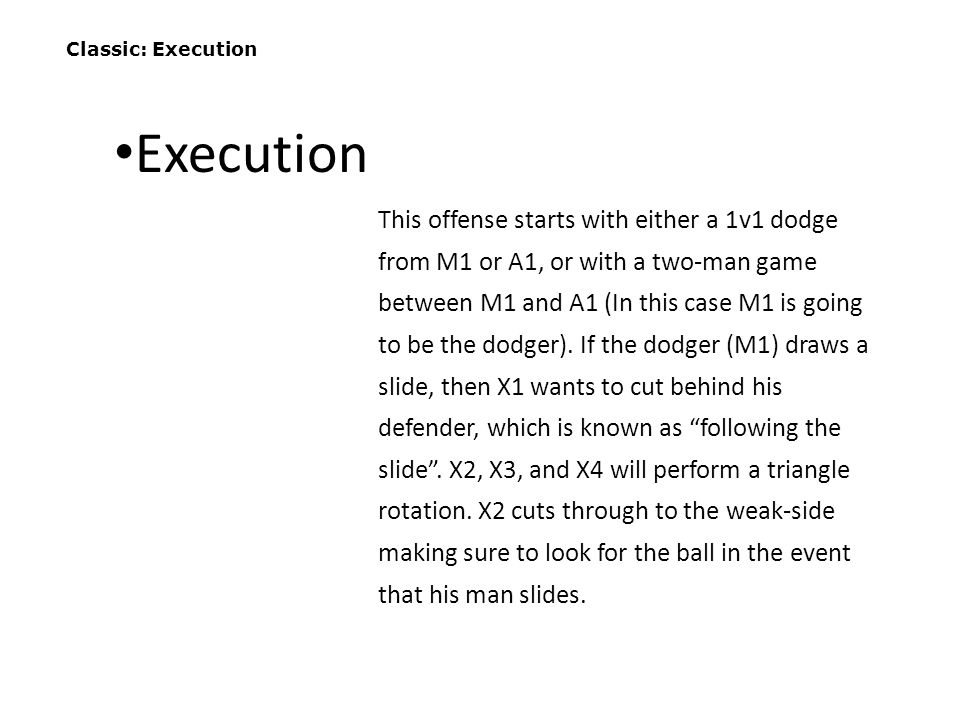 Classic: Execution Execution.