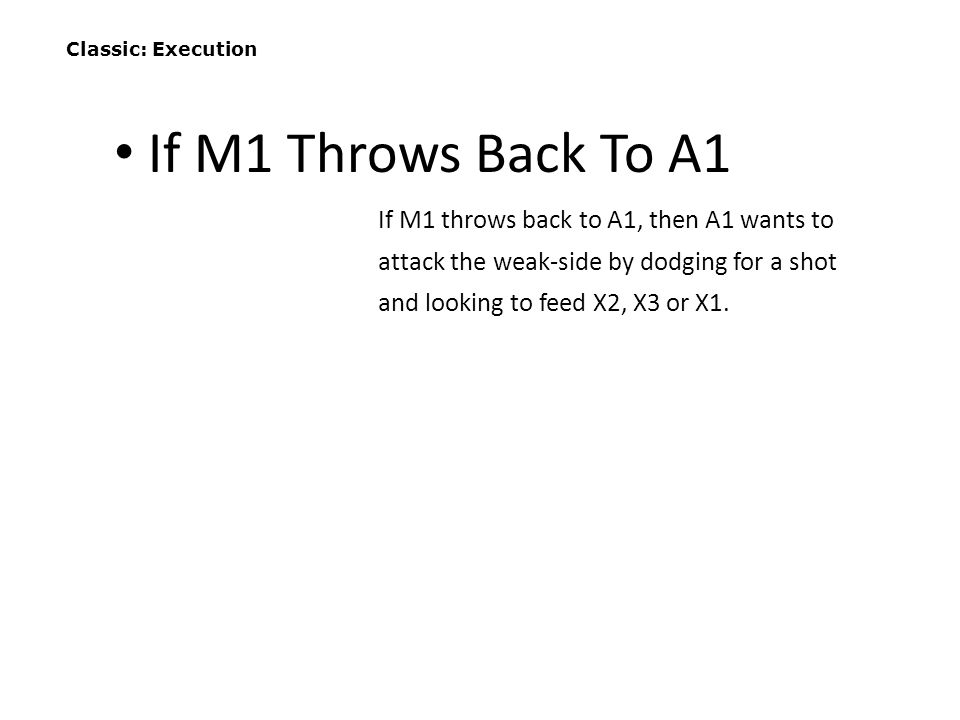 Classic: Execution If M1 Throws Back To A1.