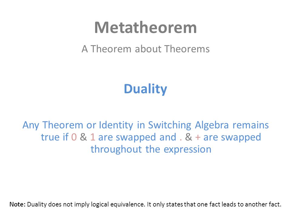 A Theorem about Theorems