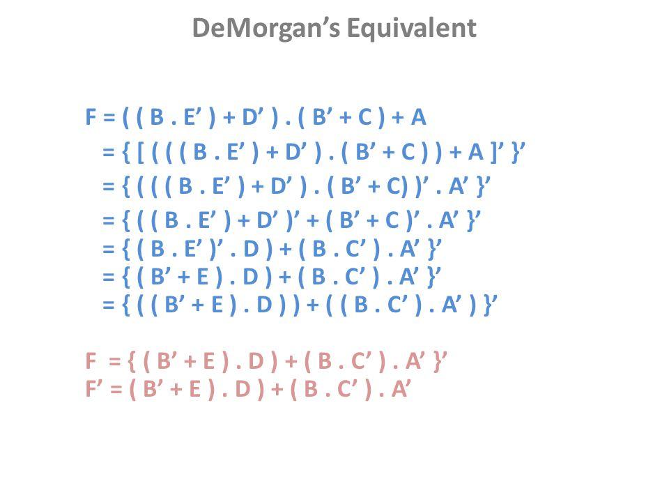 DeMorgan's Equivalent