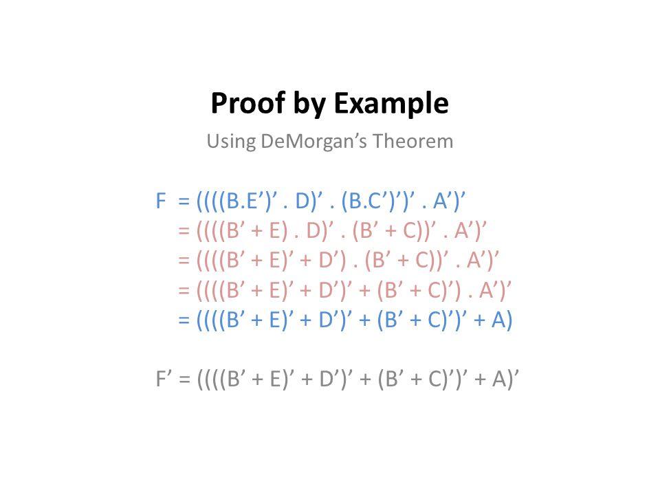 Using DeMorgan's Theorem