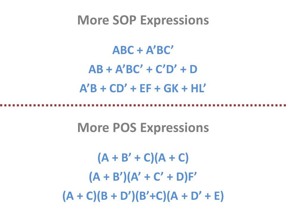 (A + C)(B + D')(B'+C)(A + D' + E)