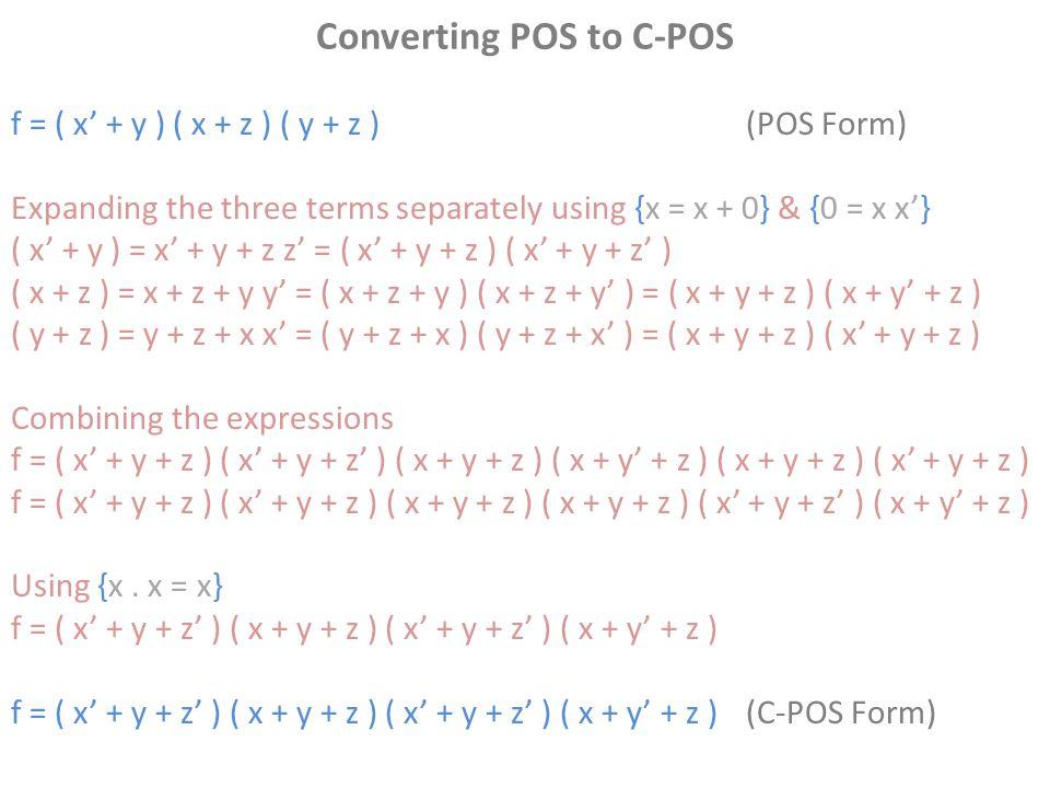 Converting POS to C-POS
