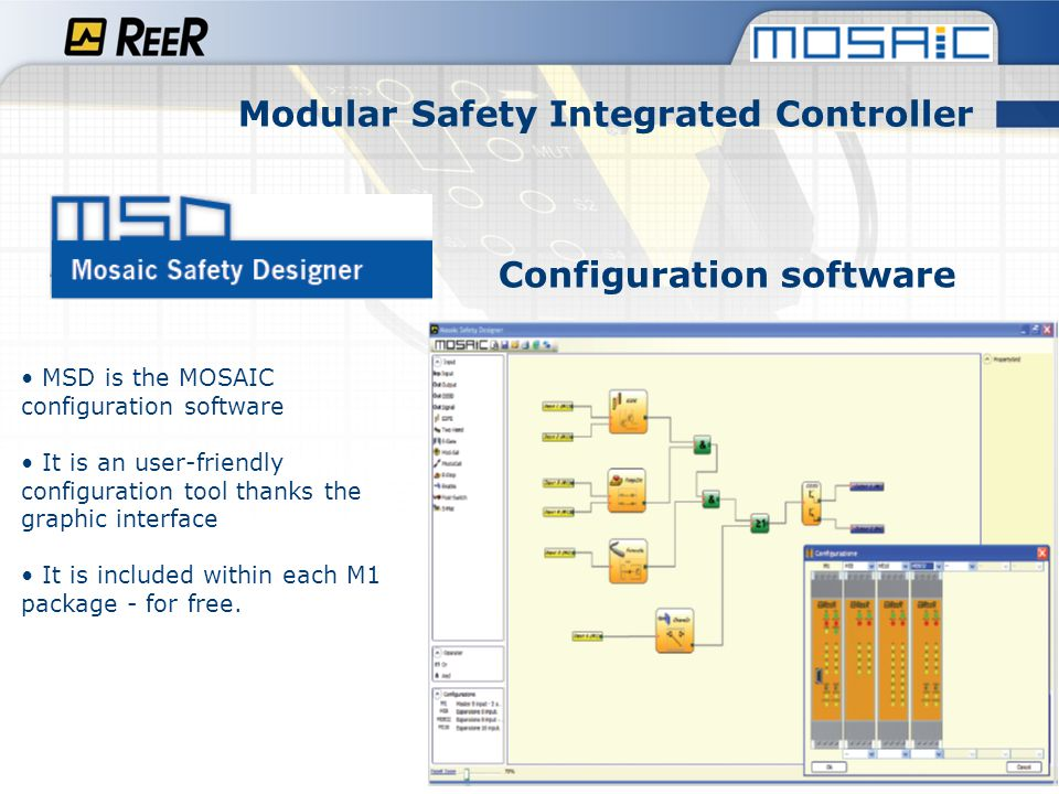 Modular Safety Integrated Controller Configuration software