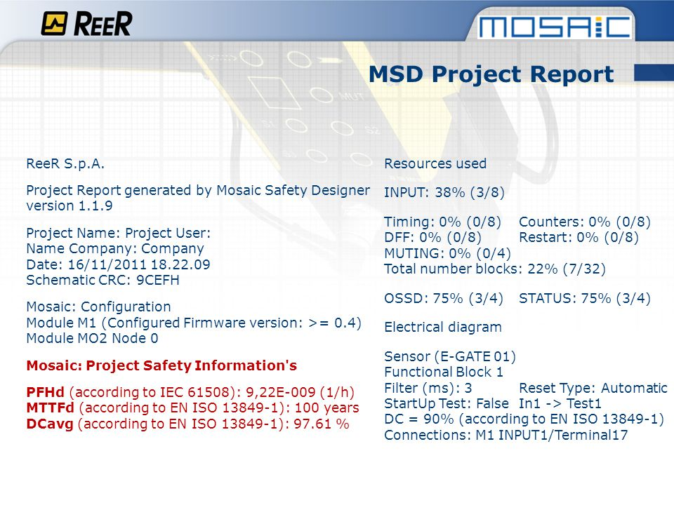 MSD Project Report ReeR S.p.A.