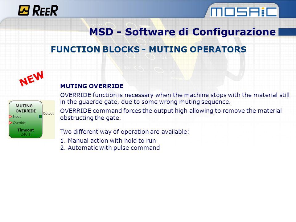 MSD - Software di Configurazione FUNCTION BLOCKS - MUTING OPERATORS