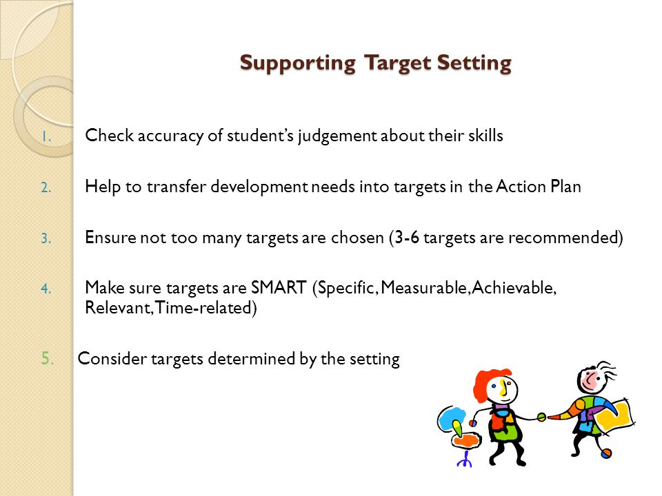 Supporting Target Setting