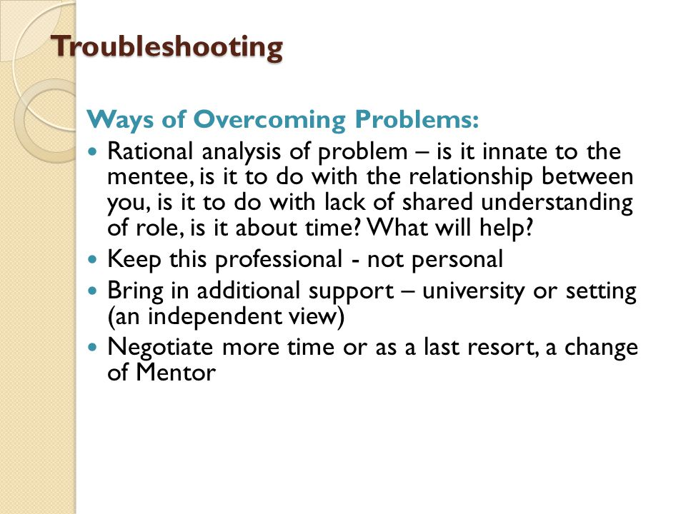 Troubleshooting Ways of Overcoming Problems: