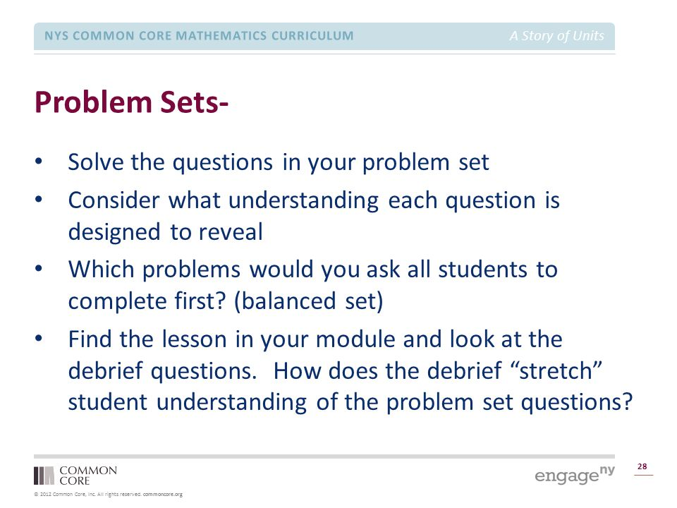 Problem Sets- Solve the questions in your problem set