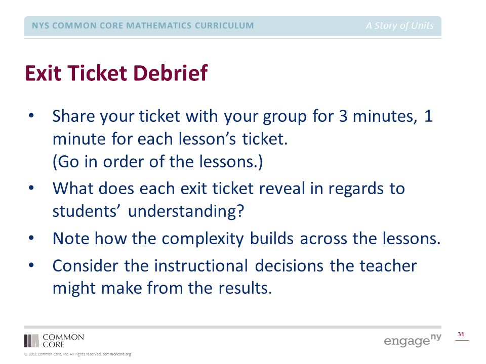 Module 1 Overview Exit Ticket Debrief.