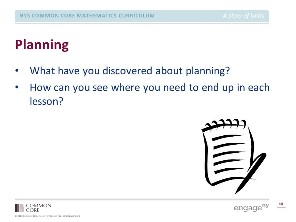 Planning What have you discovered about planning