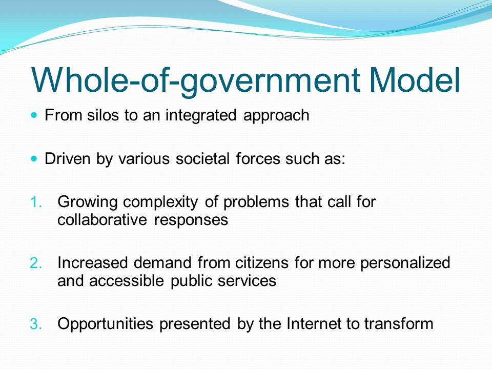 Whole-of-government Model