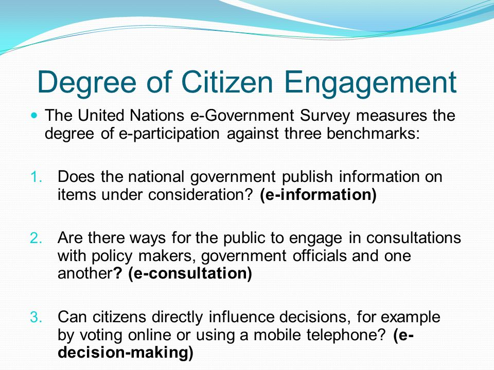 Degree of Citizen Engagement