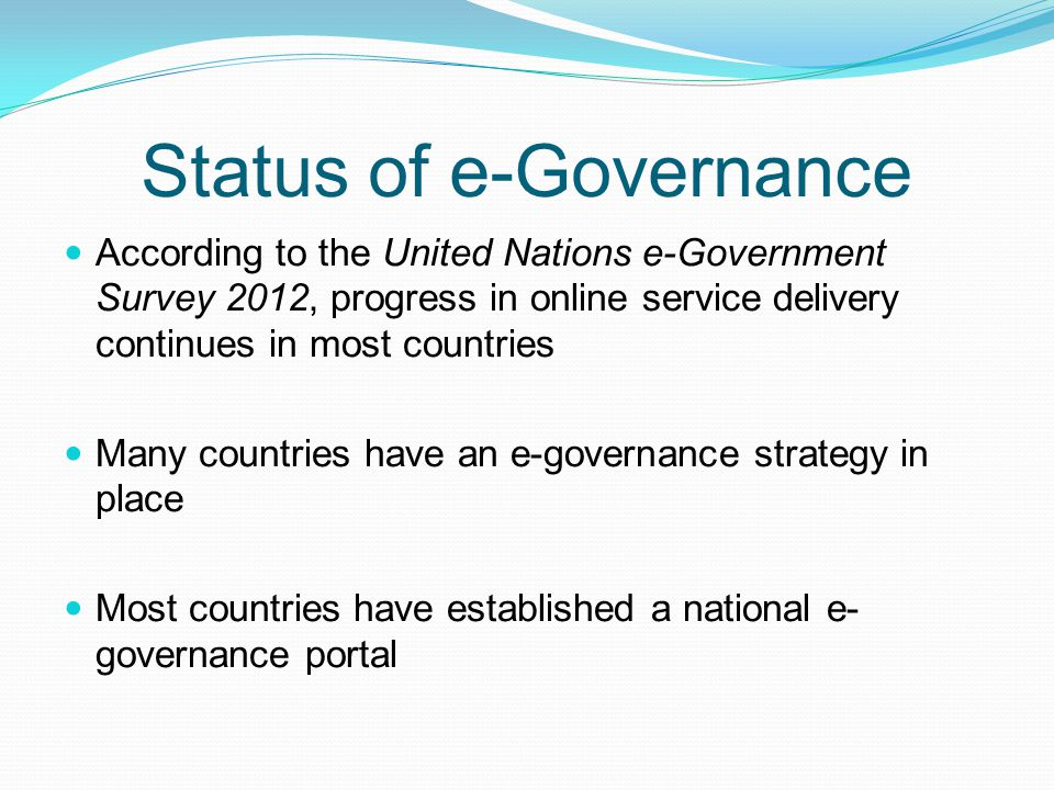 Status of e-Governance