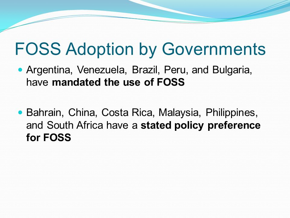 FOSS Adoption by Governments