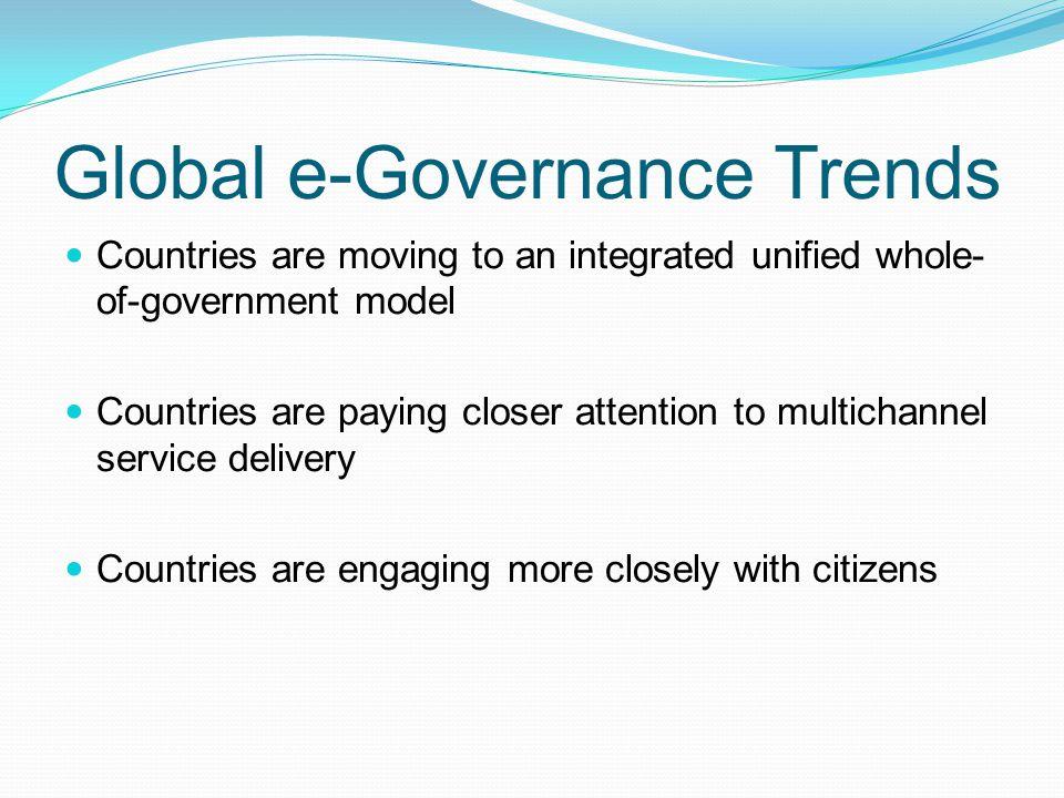 Global e-Governance Trends