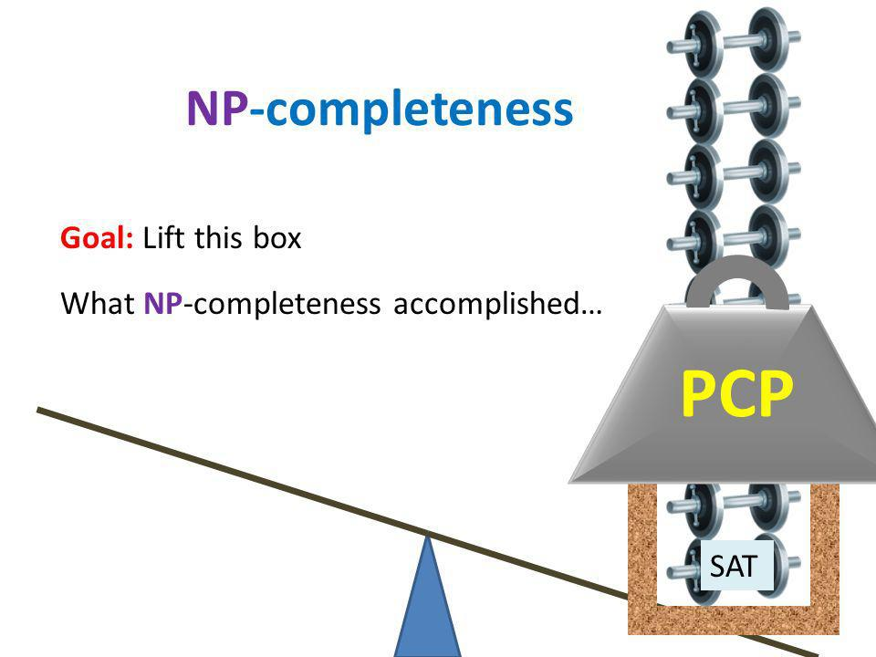 PCP NP-completeness Goal: Lift this box