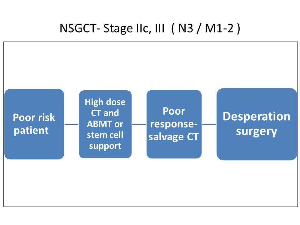 NSGCT- Stage IIc, III ( N3 / M1-2 )
