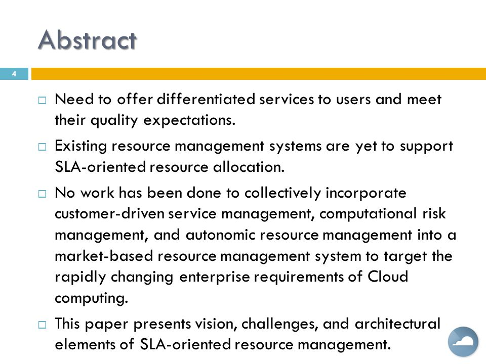 Abstract Need to offer differentiated services to users and meet their quality expectations.