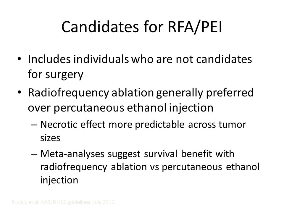 Candidates for RFA/PEI