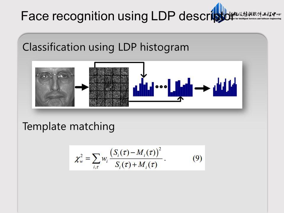 Face recognition using LDP descriptor