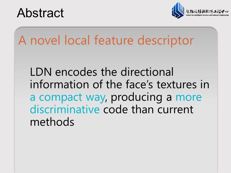 A novel local feature descriptor