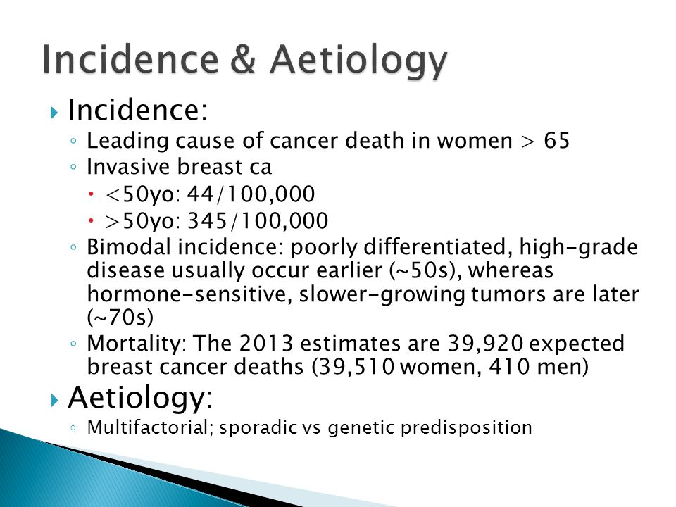 Incidence & Aetiology Aetiology: Incidence: