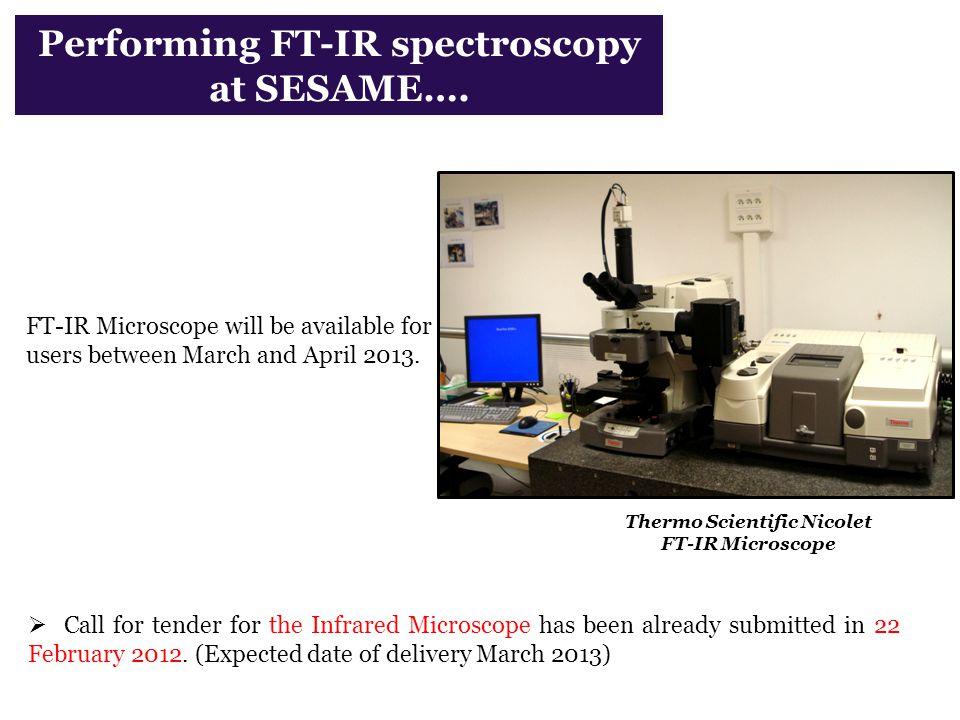 Performing FT-IR spectroscopy at SESAME….