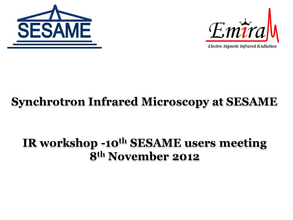 Synchrotron Infrared Microscopy at SESAME