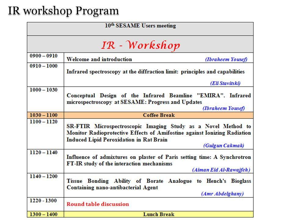 IR workshop Program